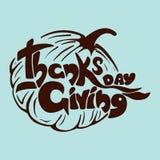 Γράφοντας ευχετήρια κάρτα ημέρας των ευχαριστιών Στοκ Εικόνες