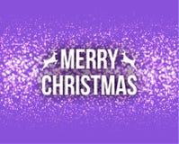 Γράφοντας ευχετήρια κάρτα τυπογραφίας σχεδίου Χαρούμενα Χριστούγεννας αναδρομική με μειωμένα snowflakes και το υπόβαθρο χριστουγε Στοκ εικόνα με δικαίωμα ελεύθερης χρήσης