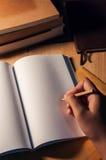 Γράφοντας κενό πρότυπο βιβλίων Στοκ Φωτογραφίες