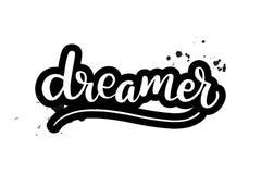 Γράφοντας ονειροπόλος βουρτσών διανυσματική απεικόνιση