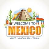 Γράφοντας ορόσημα συμβόλων θεών του Μεξικού ελεύθερη απεικόνιση δικαιώματος