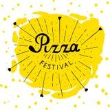 Γράφοντας που σύρεται χέρι φεστιβάλ πιτσών Στοκ Εικόνες