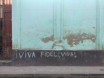 Γράφοντας στις οδούς στην Αβάνα, Κούβα στοκ εικόνες