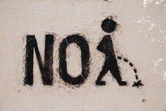 Γράφοντας στον τοίχο, κανένα κατούρημα Στοκ Φωτογραφίες