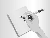 Γράφοντας χέρι Στοκ εικόνα με δικαίωμα ελεύθερης χρήσης