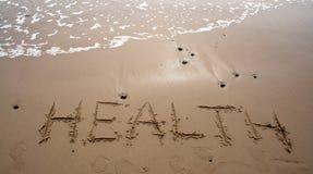 γράψιμο άμμου υγείας Στοκ φωτογραφία με δικαίωμα ελεύθερης χρήσης