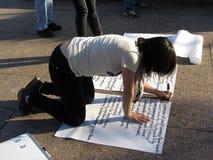 γράψιμο αίτησης Στοκ φωτογραφίες με δικαίωμα ελεύθερης χρήσης
