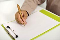 γράψιμο ατόμων επιχειρησι& Στοκ φωτογραφία με δικαίωμα ελεύθερης χρήσης