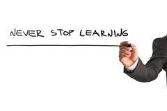 Γράψιμο επιχειρηματιών - μην σταματήστε ποτέ Στοκ Εικόνες