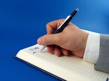 γράψιμο επιχειρηματιών στοκ εικόνες με δικαίωμα ελεύθερης χρήσης