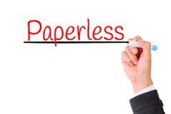 Γράψιμο επιχειρησιακών χεριών χωρίς χαρτί Στοκ φωτογραφία με δικαίωμα ελεύθερης χρήσης