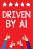 Γράψιμο κειμένων γραφής Drive από το Α1 Κίνηση έννοιας έννοιας ή ελεγχόμενος από έναν οδηγό κορυφαίας ποιότητας στα χέρια τ γυναι διανυσματική απεικόνιση