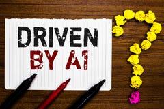 Γράψιμο κειμένων γραφής Drive από το Α1 Κίνηση έννοιας έννοιας ή ελεγχόμενος από έναν οδηγό κορυφαίας ποιότητας στο cru δεικτών ε στοκ φωτογραφία