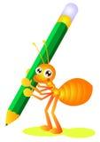 γράψιμο μυρμηγκιών Στοκ εικόνες με δικαίωμα ελεύθερης χρήσης