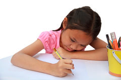 Γράψιμο παιδιών Στοκ εικόνα με δικαίωμα ελεύθερης χρήσης