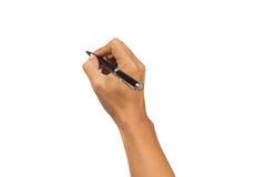 γράψιμο πεννών χεριών Στοκ εικόνα με δικαίωμα ελεύθερης χρήσης