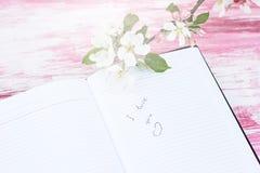 Γράψιμο σε ένα σημειωματάριο Στοκ εικόνες με δικαίωμα ελεύθερης χρήσης