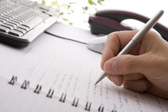 γράψιμο σημειώσεων επιχ&epsilon Στοκ εικόνες με δικαίωμα ελεύθερης χρήσης