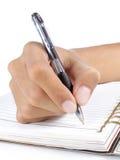 γράψιμο χεριών βιβλίων Στοκ φωτογραφίες με δικαίωμα ελεύθερης χρήσης