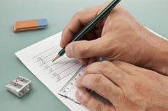 γράψιμο χεριών ενέργειας Στοκ εικόνες με δικαίωμα ελεύθερης χρήσης