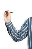 γράψιμο χεριών επιχειρηματιών Στοκ Εικόνες