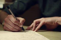 γράψιμο χεριών Στοκ Φωτογραφίες