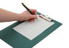 γράψιμο 2 χεριών Στοκ φωτογραφία με δικαίωμα ελεύθερης χρήσης