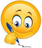Γράψιμο emoticon απεικόνιση αποθεμάτων