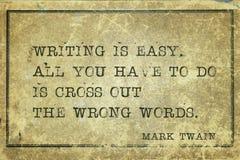 Γράψτε εύκολο MTwain Στοκ Εικόνα