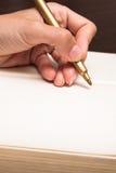 Γράψτε στο βιβλίο στοκ φωτογραφία με δικαίωμα ελεύθερης χρήσης