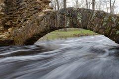 Γρήγορα διατρέχοντας νερά πλημμύρας των αψίδων πετρών Στοκ Φωτογραφία