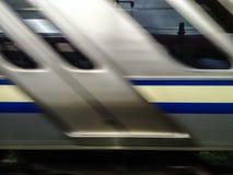 Γρήγορα κινούμενο τραίνο Στοκ φωτογραφία με δικαίωμα ελεύθερης χρήσης