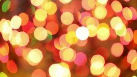 Γρήγορα να αναβοσβήσουν τα μουτζουρωμένα Χριστούγεννα ανάβουν το υπόβαθρο απόθεμα βίντεο