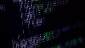 Γρήγορα να τυλίξει προγραμματισμός ή κώδικας HTML πέρα από την οθόνη απόθεμα βίντεο