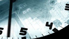 Γρήγορα περιστρεφόμενο αναλογικό ρολόι απόθεμα βίντεο