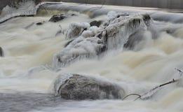 Γρήγορα ρέοντας νερό, νότια Βοημία στοκ εικόνες με δικαίωμα ελεύθερης χρήσης