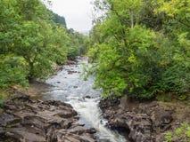γρήγορα ρέοντας ποταμός Στοκ εικόνα με δικαίωμα ελεύθερης χρήσης