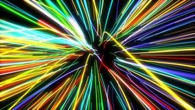 Γρήγορες γραμμές φω'των κινήσεων καμμένος στο διάστημα απόθεμα βίντεο