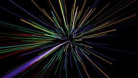 Γρήγορες γραμμές φω'των κινήσεων καμμένος στο διάστημα φιλμ μικρού μήκους