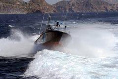 Γρήγορη βάρκα της ισπανικής υπηρεσίας τελωνείου στοκ φωτογραφία