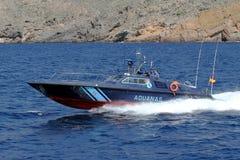 Γρήγορη βάρκα της ισπανικής υπηρεσίας τελωνείου στοκ φωτογραφίες με δικαίωμα ελεύθερης χρήσης