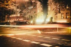 Γρήγορη οδός δέντρων διακοπών StGeorg αυτοκινήτων του Αμβούργο στοκ εικόνα με δικαίωμα ελεύθερης χρήσης
