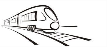 γρήγορο τραίνο σκίτσων Στοκ Εικόνα