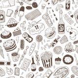 Γρήγορο φαγητό - άνευ ραφής υπόβαθρο Στοκ Εικόνες