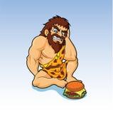Γρήγορο φαγητό Caveman Στοκ Εικόνες