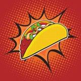 Γρήγορο φαγητό Taco στοκ εικόνα με δικαίωμα ελεύθερης χρήσης