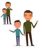 Γρίπη στην οικογένεια διανυσματική απεικόνιση