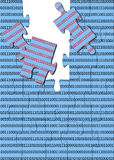 γρίφος δυαδικού κώδικα Στοκ φωτογραφίες με δικαίωμα ελεύθερης χρήσης