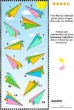 Γρίφος εικόνων με τα αεροπλάνα εγγράφου ελεύθερη απεικόνιση δικαιώματος