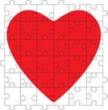 γρίφος καρδιών Διανυσματική απεικόνιση